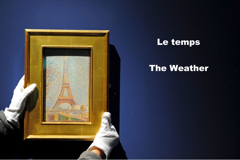 French Friday, Le temps, weather vocabulary