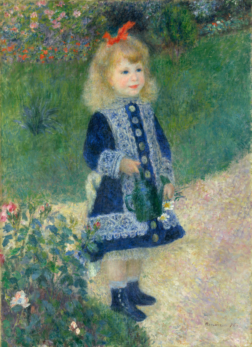Auguste Renoir (French, 1841 - 1919 ), A Girl with a Watering Can, 1876, oil on canvas, Chester Dale Collection