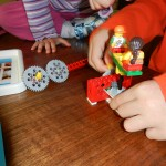 Children playing with the LEGO Education Merry-Go-Round