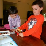 Siblings LEGO Education Merry-Go-Round