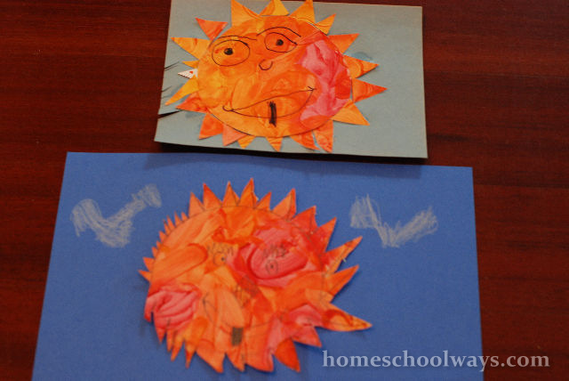 Happy Sun - a simple craft project