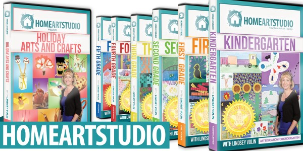 Home Art Studio DVDs K-5th plus holiday DVD