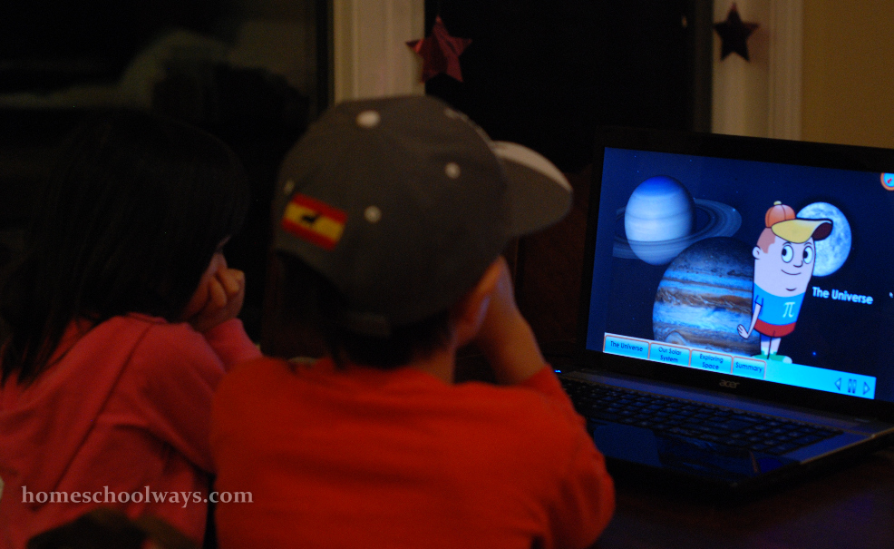 The kids are watching one of the short video presentations on science4us.com
