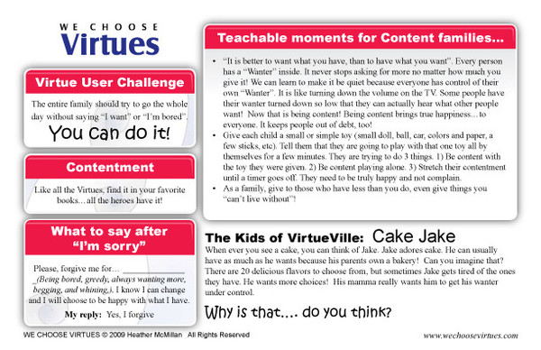 Contentment Card Back - We Choose Virtues