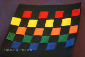 Craft of many colors to represent Joseph's coat