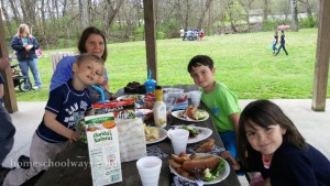 Picnic and Easter Egg Hunt with other homeschoolers