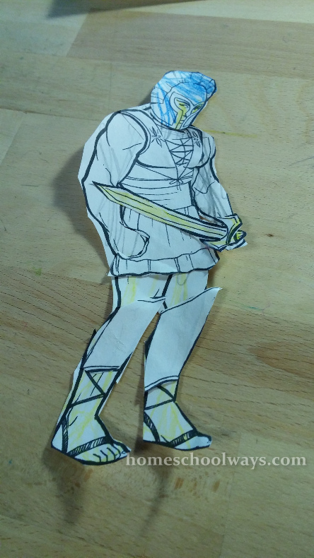 Greek Warrior Paper Doll