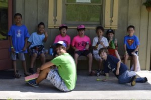 Children and counselor at Cohutta Springs Youth Camp