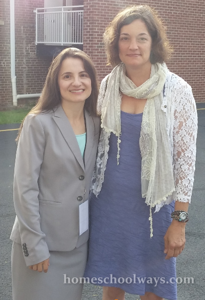 Adriana Zoder and Susan Wise Bauer at the Appalachian Home Educators Conference in Knoxville, June 2015