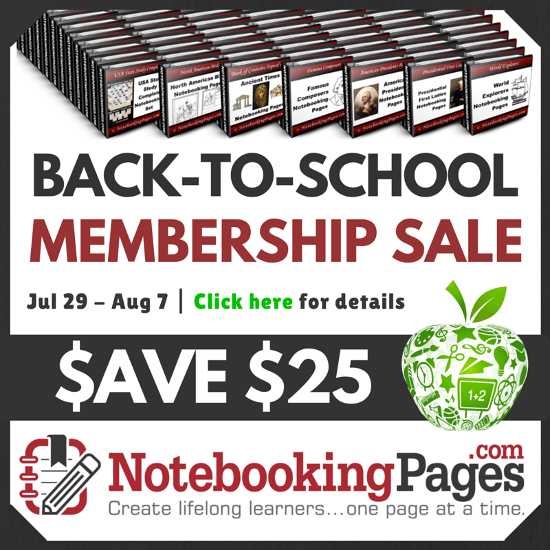 Back-to-School Notebooking Pages Offer