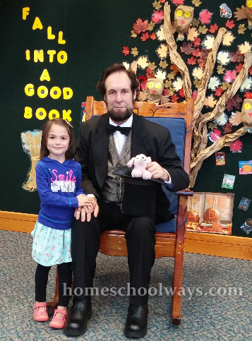 Meet Mr. Lincoln with little girl