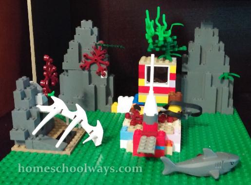 LEGO ocean floor scene