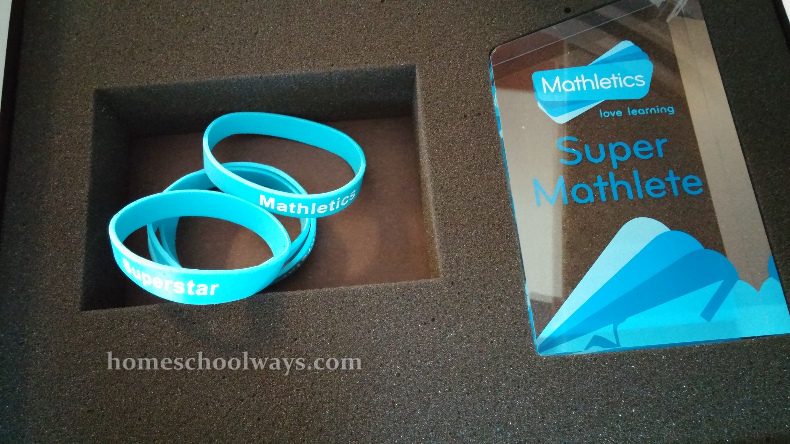 Mathletics wristbands and trophy which come with your kit