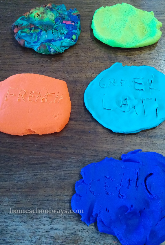 Play-Doh craft about English
