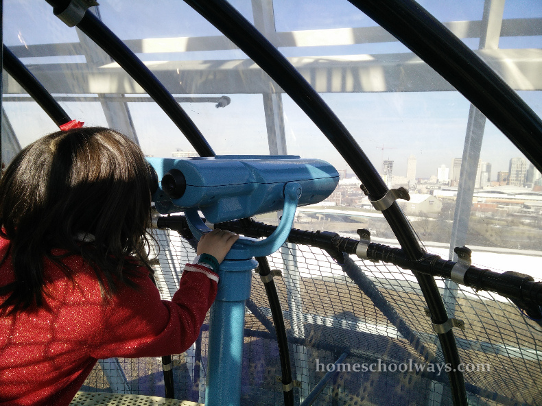 Girl looking at Nashville skyline