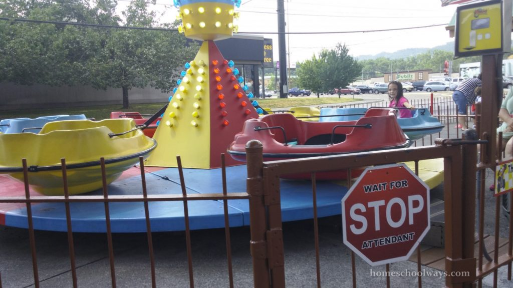 The Track boats in Pigeon Forge