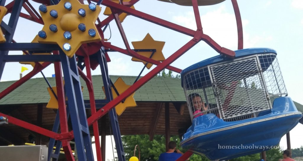 The merry-go-round at The Track in Pigeon Forge