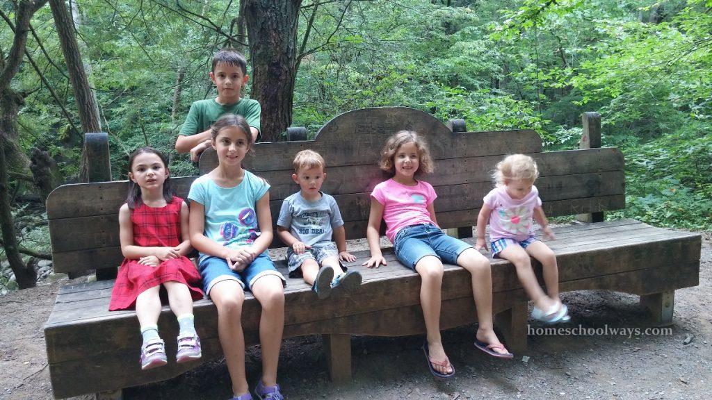 Children hiking in the Smokies