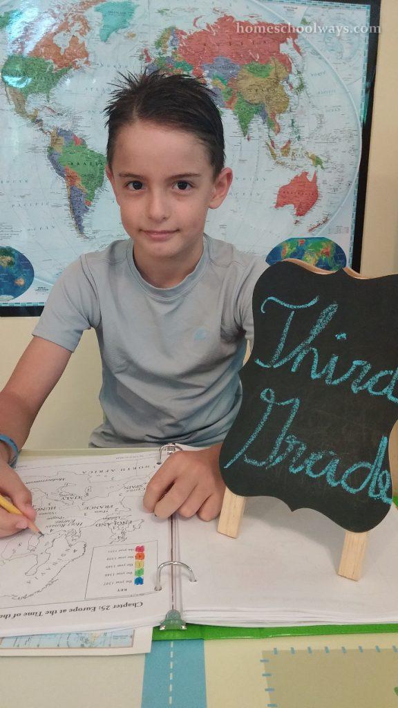 Boy Starts Third Grade