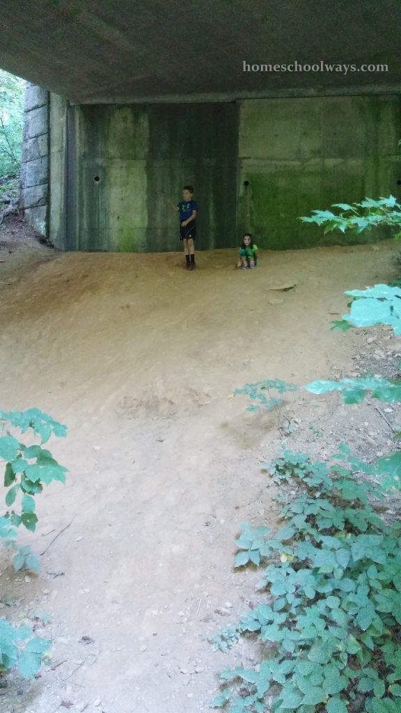 Boy and girl playing on the Gatlinburg Trail