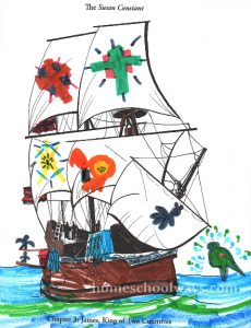 The Susan Constant coloring page