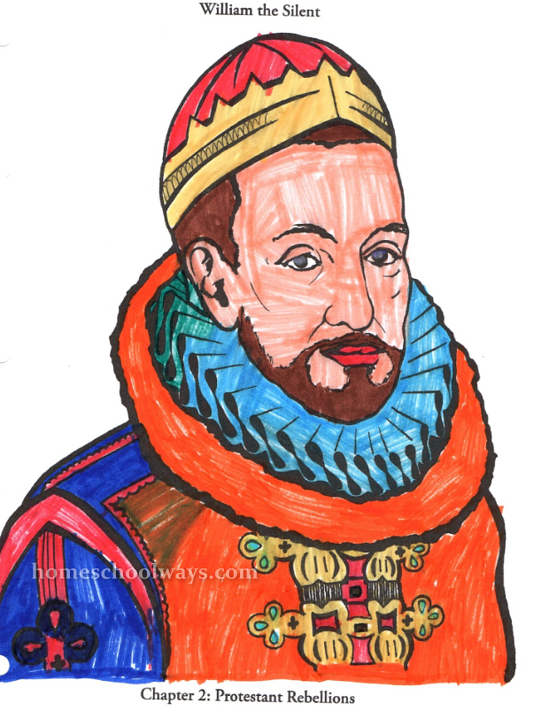 William The Silent Coloring Page