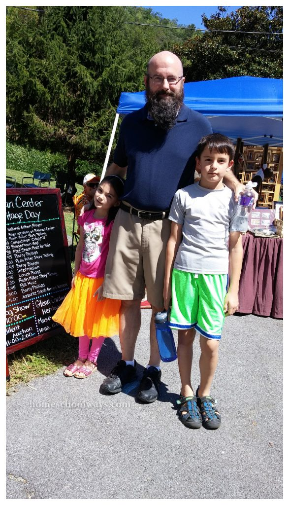 Daddy and children at Pittman Center Heritage Day
