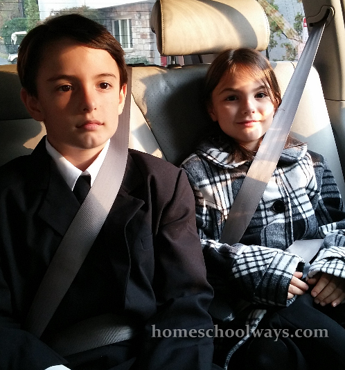 Boy and girl in the car
