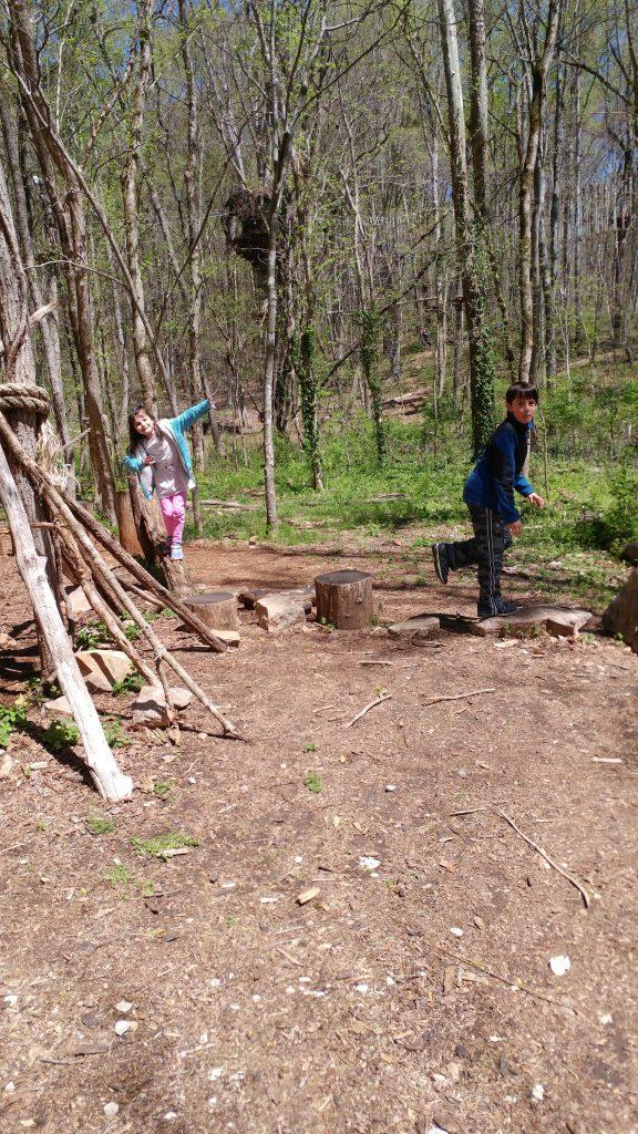 Boy and girl enjoying Ijams Nature Center