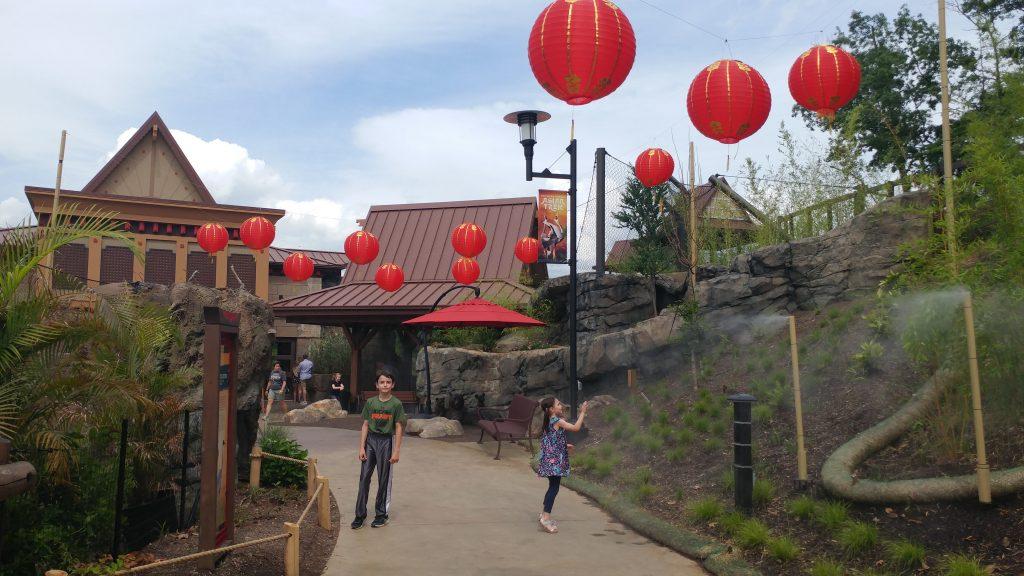 Walkway inside the Asian Trek