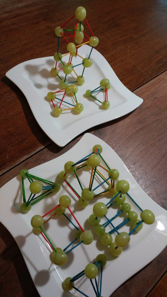 Grape geometry - edible math craft