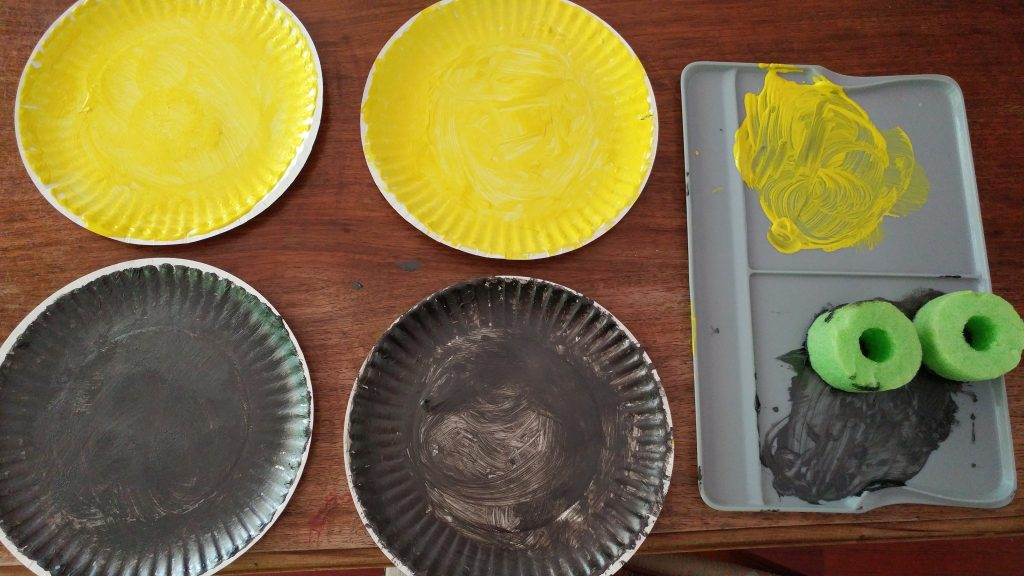 Solar eclipse craft with sun and moon paper plates