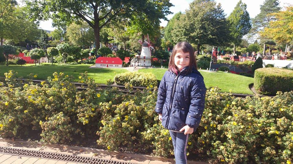 Girl at Miniland Legoland Billund