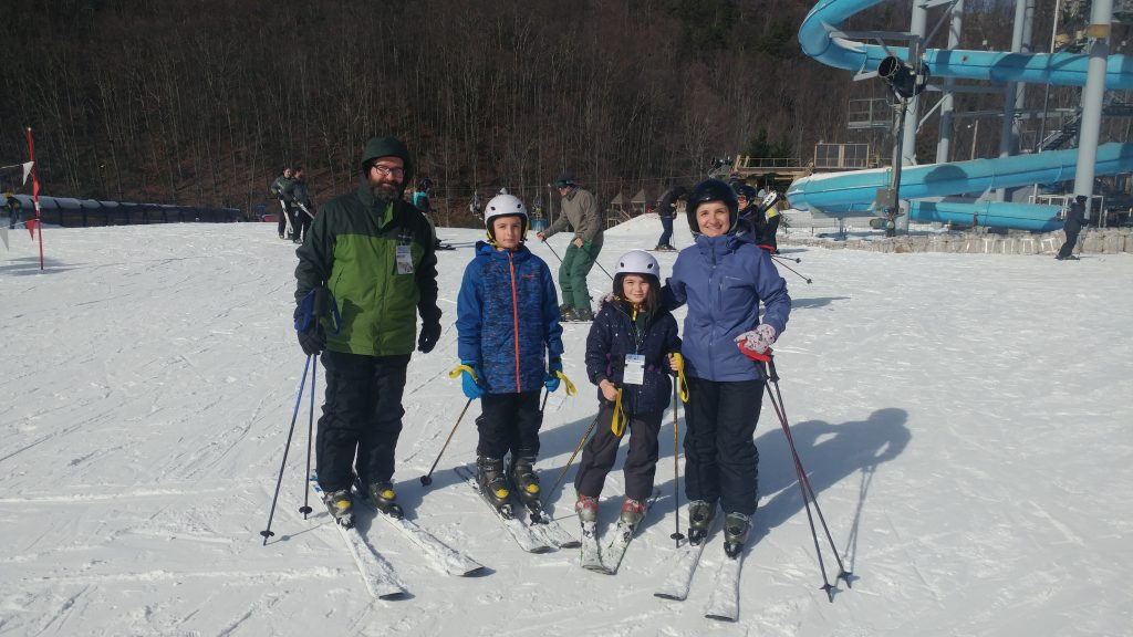 Family skiing at Ober Gatlinburg