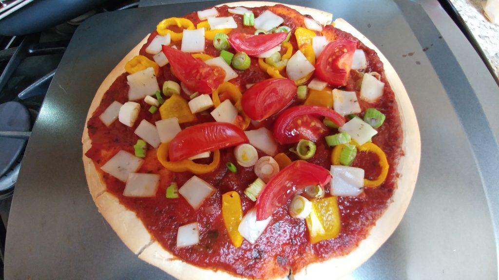 Gluten free pizza - Scharr crust