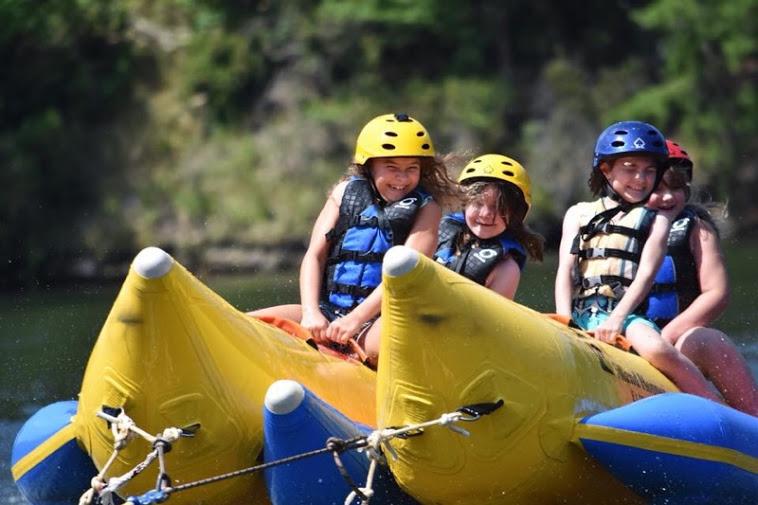 Cohutta Springs Youth Camp banana boat ride