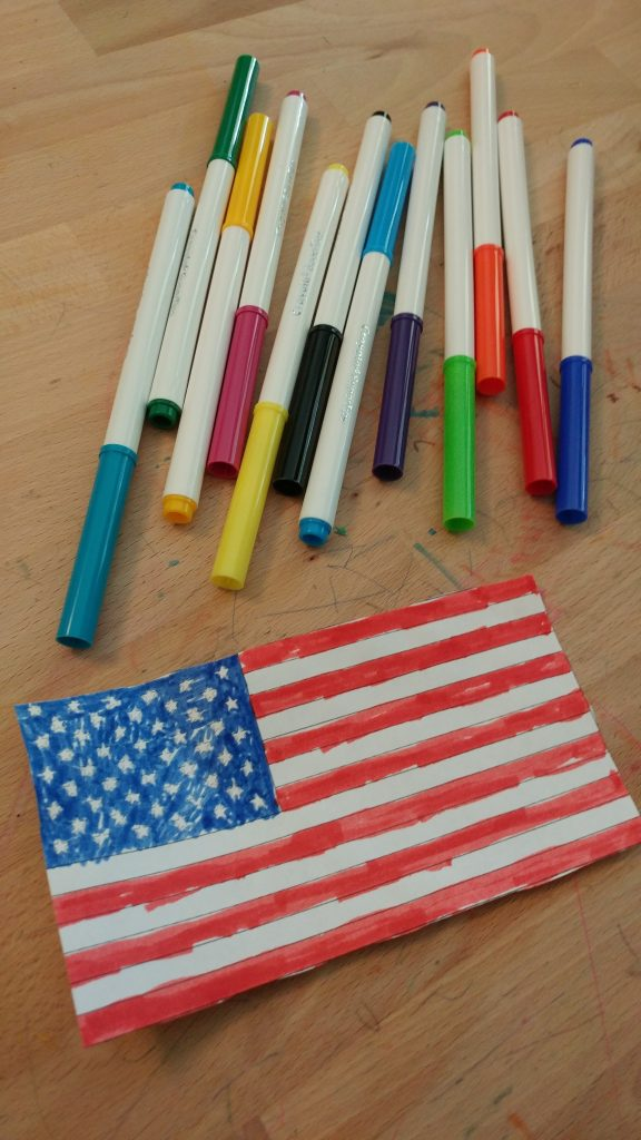 Colored American flag