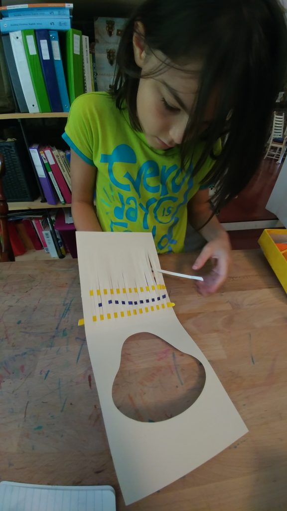 Weaving with paper strips