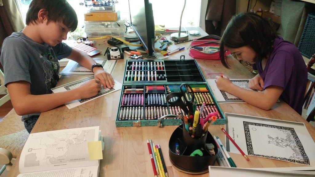 Coloring Mandarin Squares