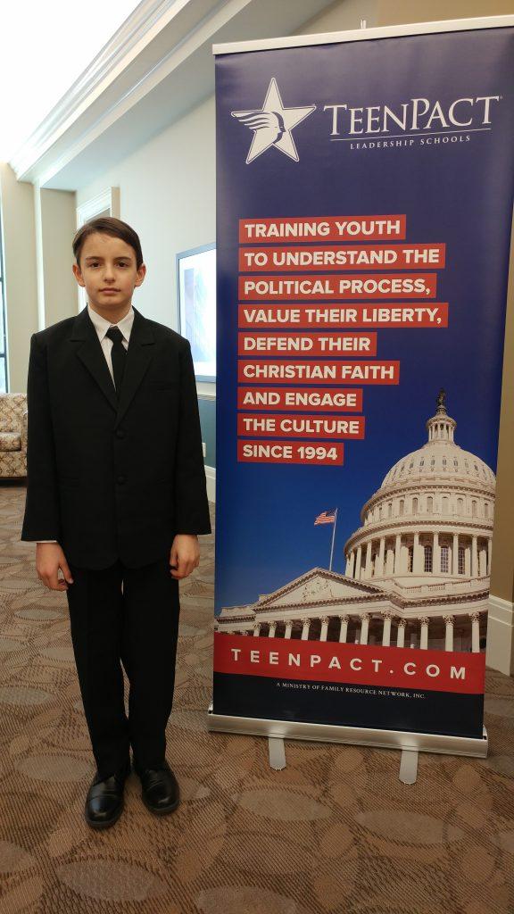TeenPact Boy Participant