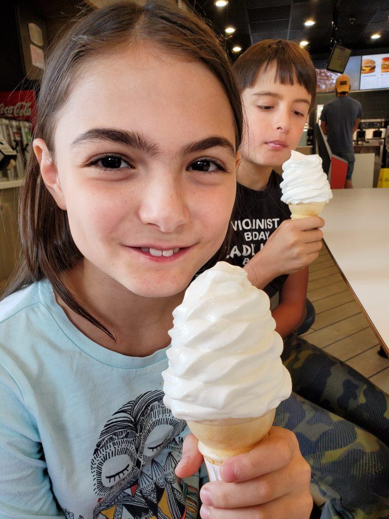 Icecream as incentive