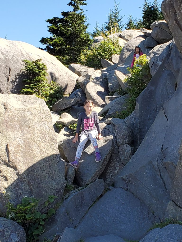 Girl on Boulders