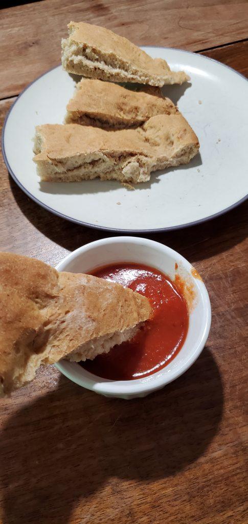 Focaccia with marinara